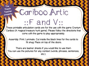 Cariboo F and V with BONUS phrase and sentence list examples