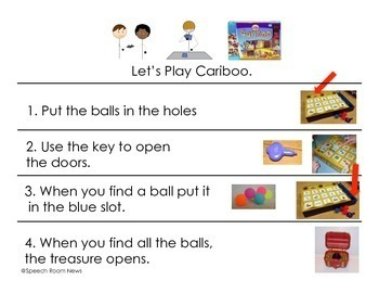 Cariboo Game: Communication Board & Visual Directions Freebie