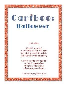 Cariboo Halloween Game Cards