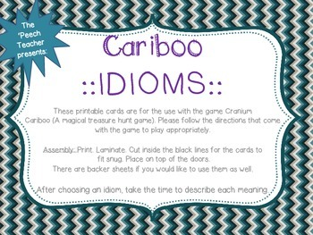 Cariboo IDIOMS!