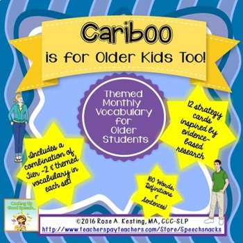Cariboo Is For Older Kids Too {Vocabulary for Older Students}