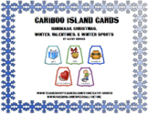 Cariboo Island Cards for Hanukkah, Christmas, Winter, Valentines & Winter Sports