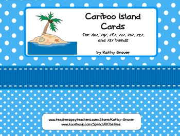 Cariboo Island Cards for /k/, /g/, /f/, /v/, /s/, /z/ and