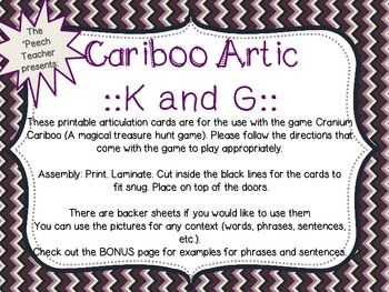 Cariboo K and G with bonus phrase and sentence lists along with data trackers