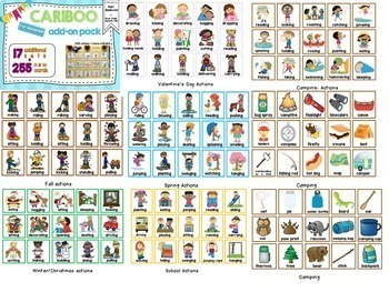 Cariboo Cards Expansion Pack for Language: Nouns, Pronouns, and Verbs