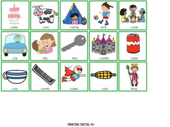 Cariboo Phonology Picture Cards