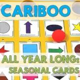 Cariboo Seasonal All Yearlong - Fun Vocabulary Builder! (English or Spanish)