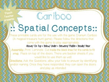Cariboo: Spatial Concepts (4 concepts included)