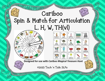 Cariboo Spin & Match for Articulation L, H, W, TH(vl)