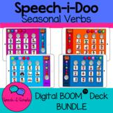 Speech-i-Doo Boom Card Game: Seasonal Verbs BUNDLE Digital Cariboo