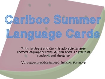 Cariboo Summer Language Cards