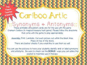 Cariboo Synonyms and Antonyms