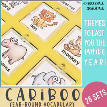 Cariboo Cards: Year Round Theme and Seasonal Vocabulary Cards