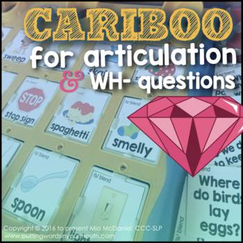 Cariboo for Articulation {& language, too!}