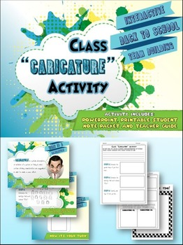 Caricature Activity - Back to School - Icebreaker - Powerpoint + Printable