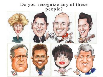 Caricatures Speak Out for Character Powerpoint Lesson