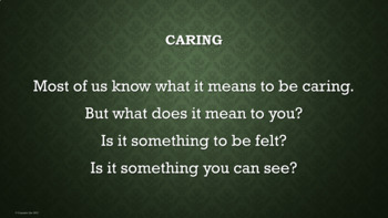 Caring Kindness Character Ed Lesson w 3 videos & 3 activities w worksheets