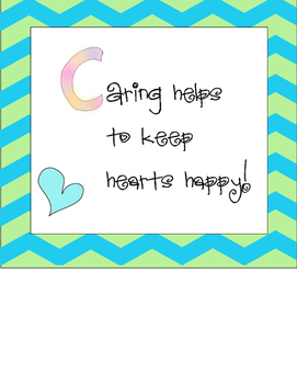 #Kindnessnation Caring Poster Freebie