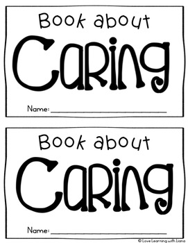 Caring Reader Mini Book Character Education