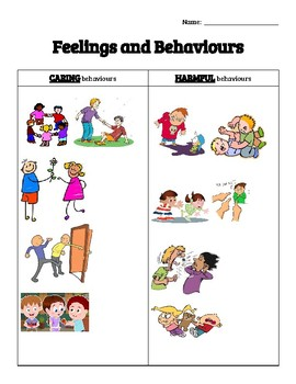 Caring and Harmful Behaviours
