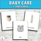 Caring for Baby Montessori 3-part Cards