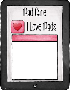 iPad™ Rules and Care Digital Editable Slideshow With Google Slides™