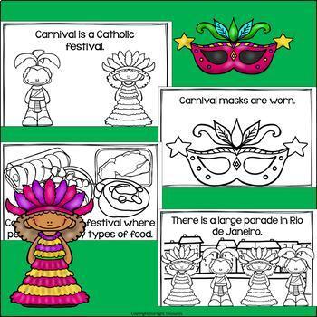 Carnival in Brazil Mini Book for Early Readers