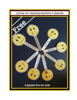 Caritas - A fun activity to teach emotions in Spanish