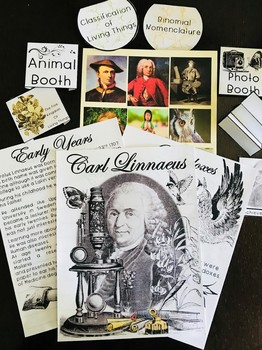 Carl Linnaeus Complete Unit and Interactive Notebook