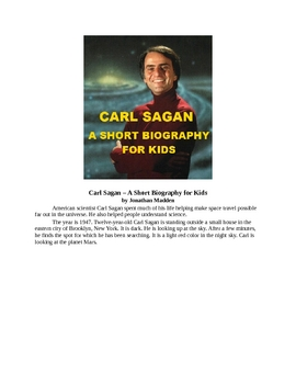 Carl Sagan - A Short Biography for Kids