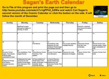 Carl Sagan's Cosmic Calendar - Bill Burton