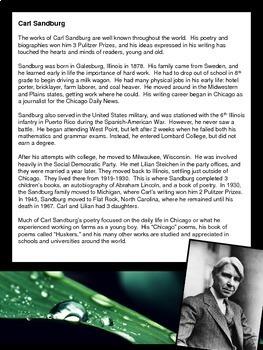 Carl Sandburg: Author Study and Poetry Analysis Unit