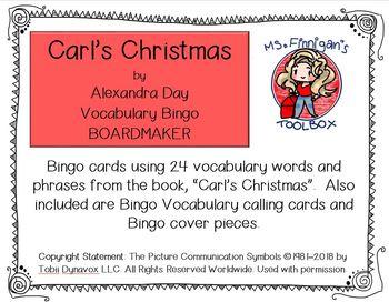 Carl's Christmas - 24 Square BOARDMAKER Bingo Game