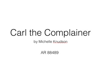 Carl the Complainer Keynote