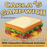 Carla's Sandwich Reading Lessons & Interactive Activities