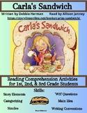 Storylineonline: Carla's Sandwich: Reading Comprehension Activity