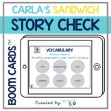 Carla's Sandwich Book Companion Boom Cards™️ for Speech Therapy | Digital