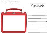 Carla's Sandwich Writing Activity