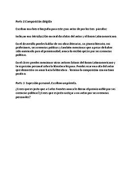 Carlos Fuentes Web Quest (Spanish)