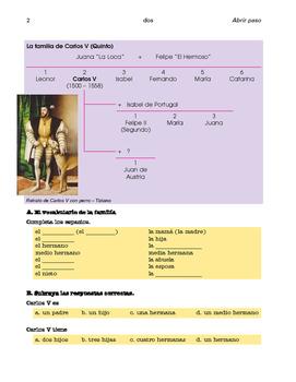 Carlos V, Cortés y Moctezuma, Bolívar; 3 inter. units - SP Beginners 1