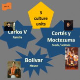 Carlos V (1), Cortés y Moctezuma (2), Bolívar (3); SP Beginners 1