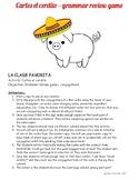 Carlos el cerdito - Spanish grammar review game