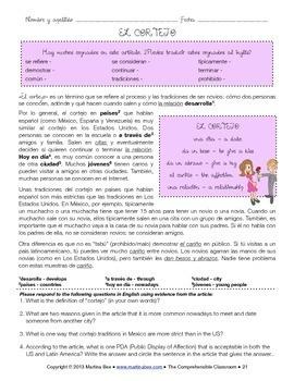 SOMOS Spanish 1 Unit 12: El cortejo (dating customs)