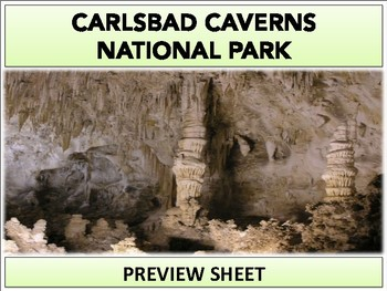 Carlsbad Caverns National Park : Project Materials