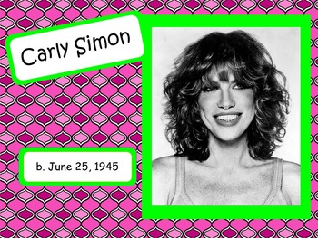 Carly Simon: Musician in the Spotlight