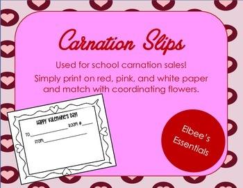 Carnation Sales Slips