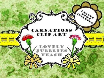 Carnations: Clip Art