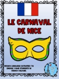 Carnaval De Nice Grade 8 Ontario Core French Culture Activity