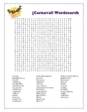 Carnaval / Latin-American Carnival Wordsearch