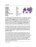 Carnaval Lectura y Cultura - Mardi Gras - Spanish Reading on Carnival